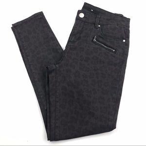 Francesca's Harper Animal Print Skinny Jeans